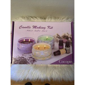 Complete Soy Candle Making Kit 6 Tins Dyes Wicks P